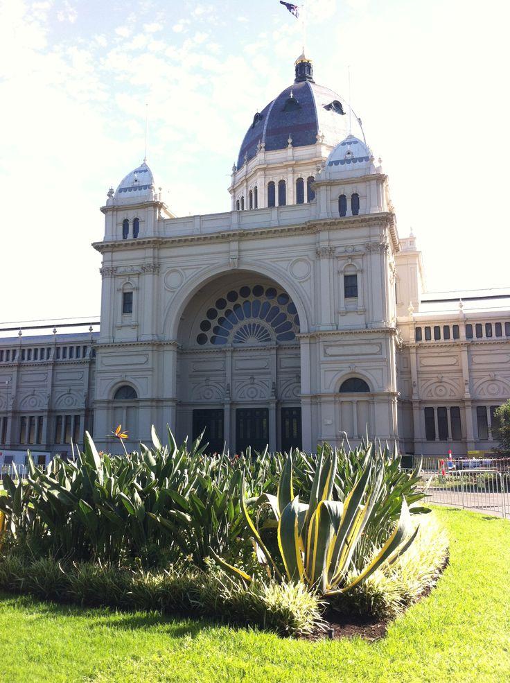 Exhibition Buildings in Melbourne's Carlton Gardens. Beautiful architecture (Melbourne, Victoria, Australia)