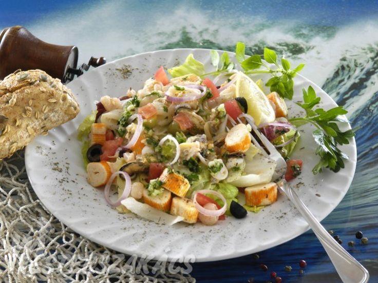 Tenger gyümölcsei saláta recept