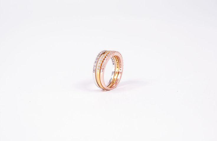 Eternity Swarovski Ring Set for €79,90 by Golden-Eight.com
