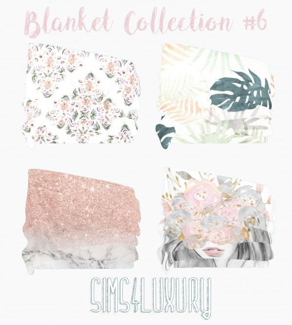 Sims 4 Luxury - Blanket Collection 6 for The Sims 4