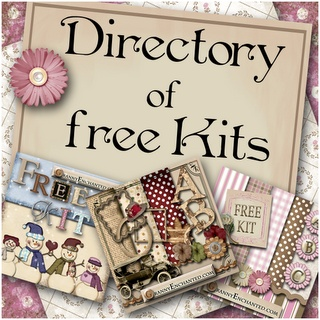 Free Digital Scrapbook Kits, paper, alphabets & embellishments