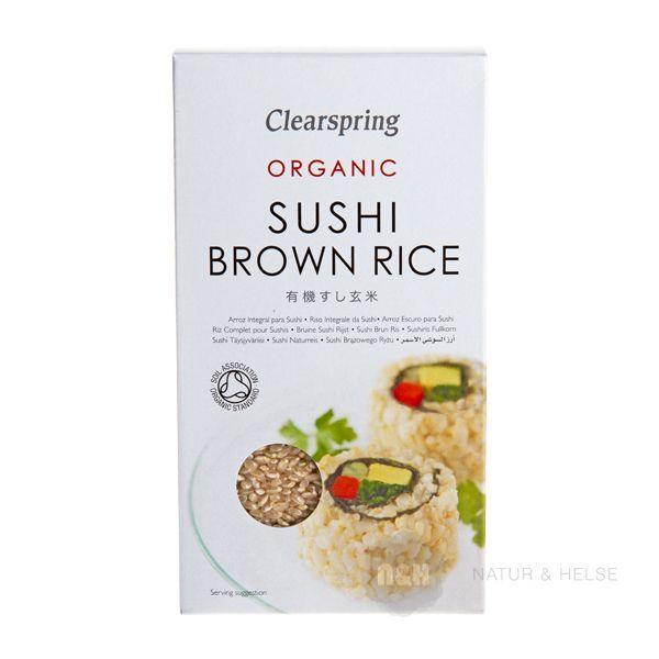 Brune Økologiske Sushi Ris fra Clearspring