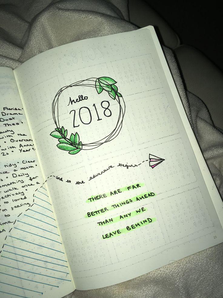 2k18 bullet journal cover