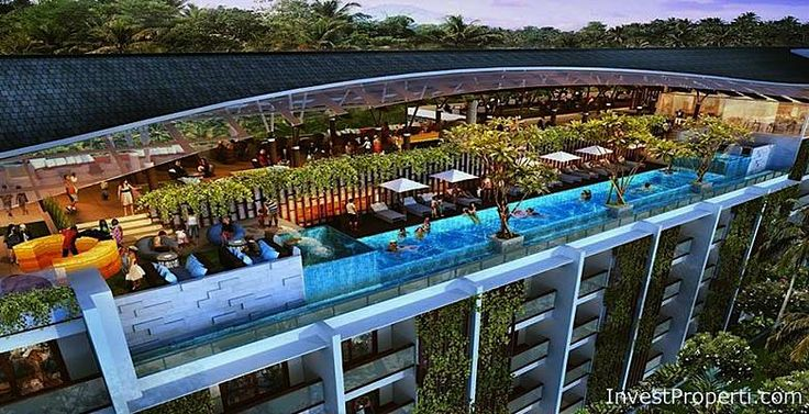 Roof top swimming pool Meritus Seminyak Hotel.