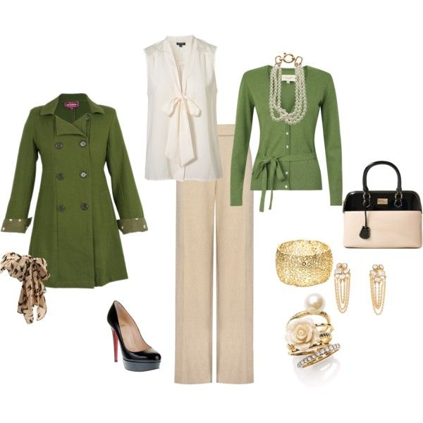 Classic office wear, created by stroinsb on Polyvore