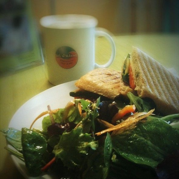 Get Juiced - Veggie Express Panini With House Salad