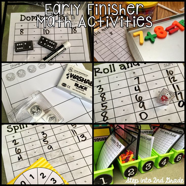 Step into 2nd Grade with Mrs. Lemons: I'm done, now what? Free early finisher math activities.