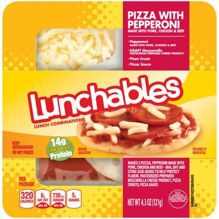 Lunchables Pizza with Pepperoni Lunch Combination, 4.3 oz - Walmart.com