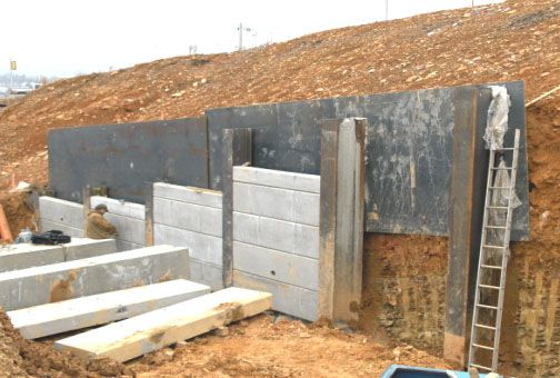 Shoring Posts For Concrete Walls : Best soldier pile lagging shoring images on pinterest
