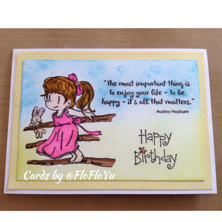 """Handmade card with Dreamerland Crafts """"Stretching Out"""" stamp."""