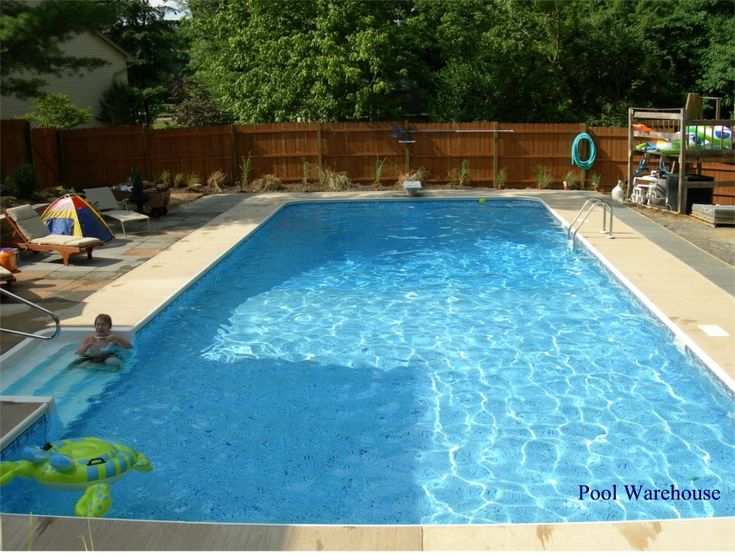 Inground pool rectangle 16x32 home decorating ideas for Simple inground pool designs