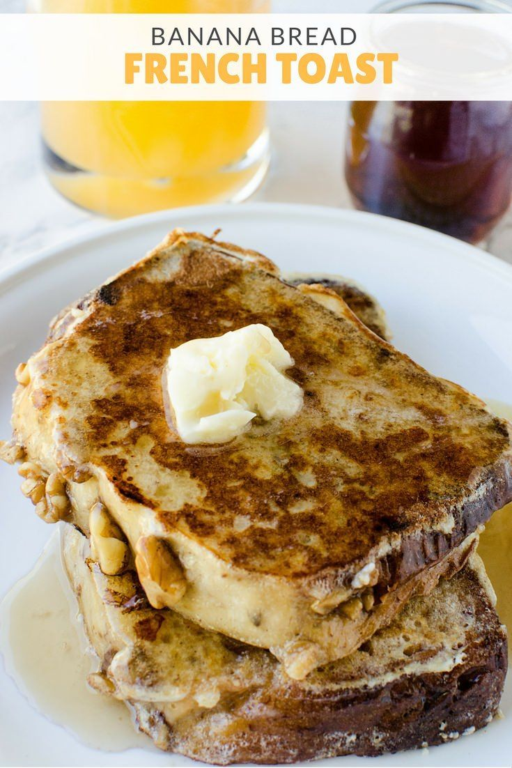 Breakfast about the only thing your kids will eat? Yup, us too. This banana bread french toast is delicious at any time of day! | Kid Friendly Breakfast Ideas | Easy Breakfast Recipes | Breakfast Recipes for Toddlers | French Toast Recipes || Lipgloss and Crayons
