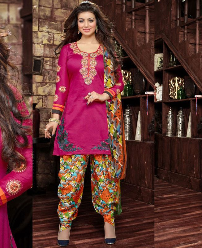 Buy Fascinating Pink Patiala Salwar Kameez online at  https://www.a1designerwear.com/fascinating-pink-patiala-salwar-kameez  Price: $38.88 USD