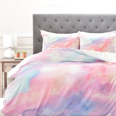 East Urban Home Rosie Brown Duvet Cover Set Size: King