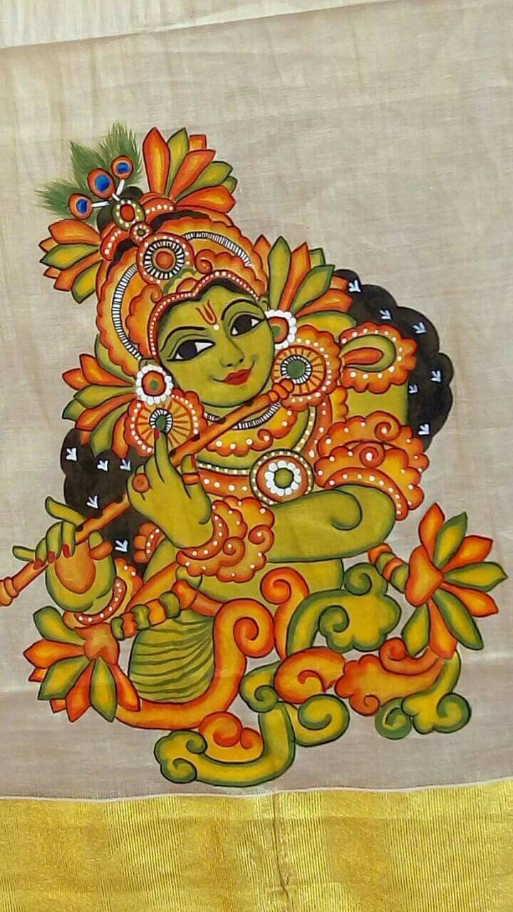 254 best kerala mural images on pinterest indian for Aithihya mural painting fabrics