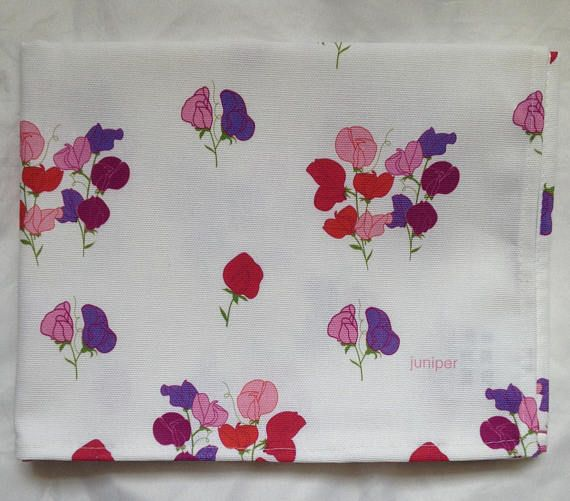 Sweetpea tea towel  sweetpea kitchen towel  sweetpea floral