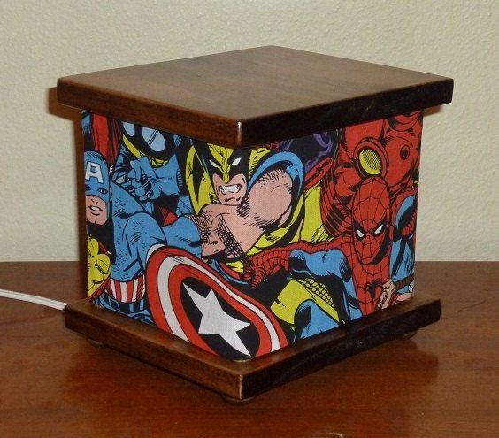 Superhero Lamp Spiderman Night Light Lantern by babymamma1 on Etsy