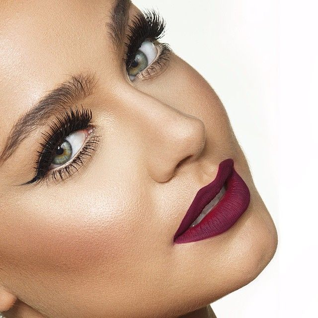 makeupbyanna's photo on Instagram. Love the dark lipstick