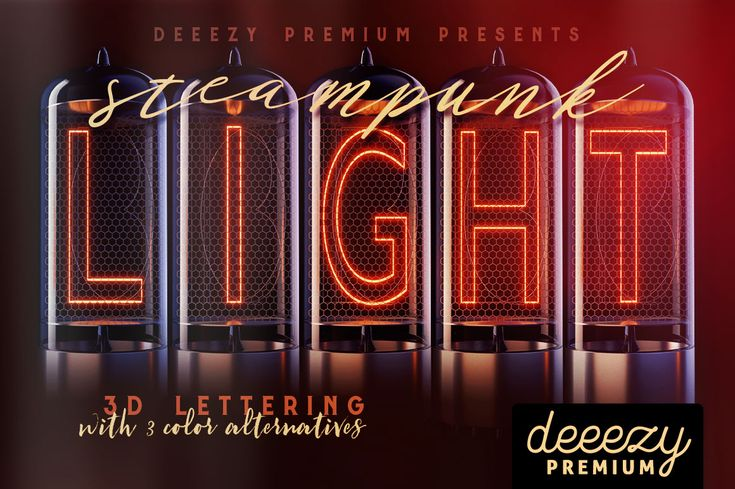 Steampunk Lights – 3D Lettering   Deeezy - Freebies with Extended License