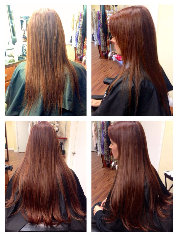 Before and after tape extensions. 1820 inch hair