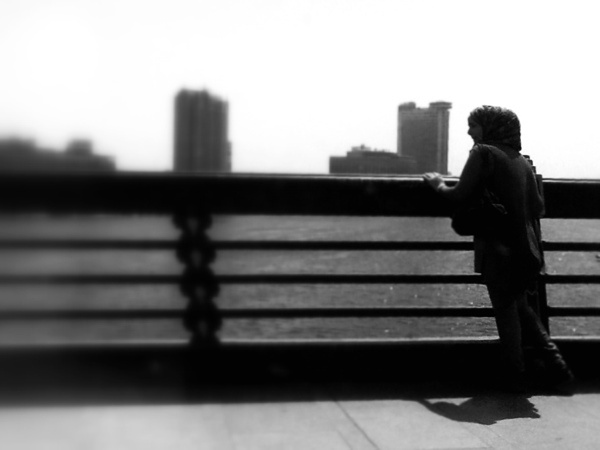 Where is my future? Looking for something real (bridge to Tahrir Square, Cayro, Egypt)