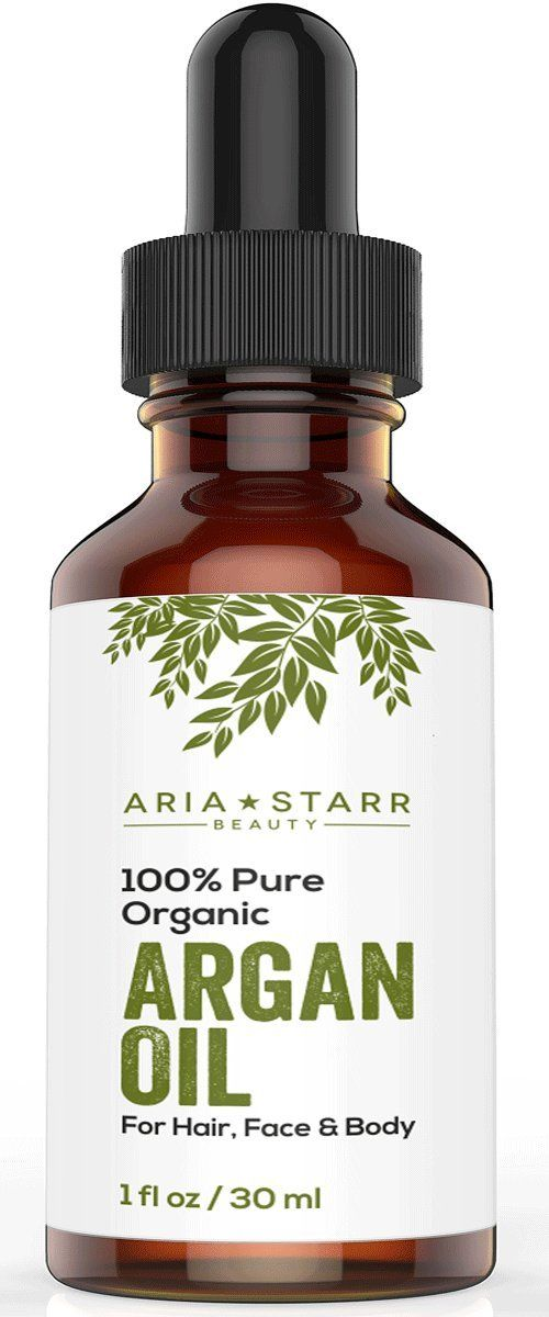 Virgin Argan Oil, 1 fl oz. ★ Premium Quality 100% ECO Certified Organic For Hair, Skin, Face & Nails - Best Moroccan Anti-Aging, Anti-Wrinkle, Anti-Oxidant Beauty Secret - Prevents Frizz & Increases Natural Hair Shine & Silkiness - Natural Skin Care Products for Women and Men - Nature's Best Beard Oil - Moisturizer for Dry Skin & Cuticles - Pure Oil not a Cream or Serum - USDA & EcoCert Certified - ONE YEAR Satisfaction Guarantee