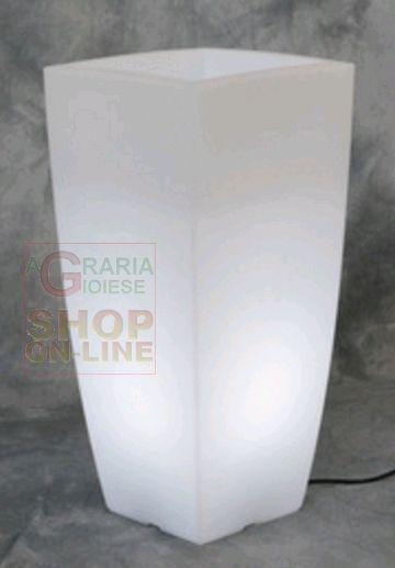VASO HOME LIGHT QUADRO IN RESINA COLORATA  CM. 40X40X90H. BIANCO GHIACCIO http://www.decariashop.it/arredo-giardino/21334-vaso-home-light-quadro-in-resina-colorata-cm-40x40x90h-bianco-ghiaccio.html
