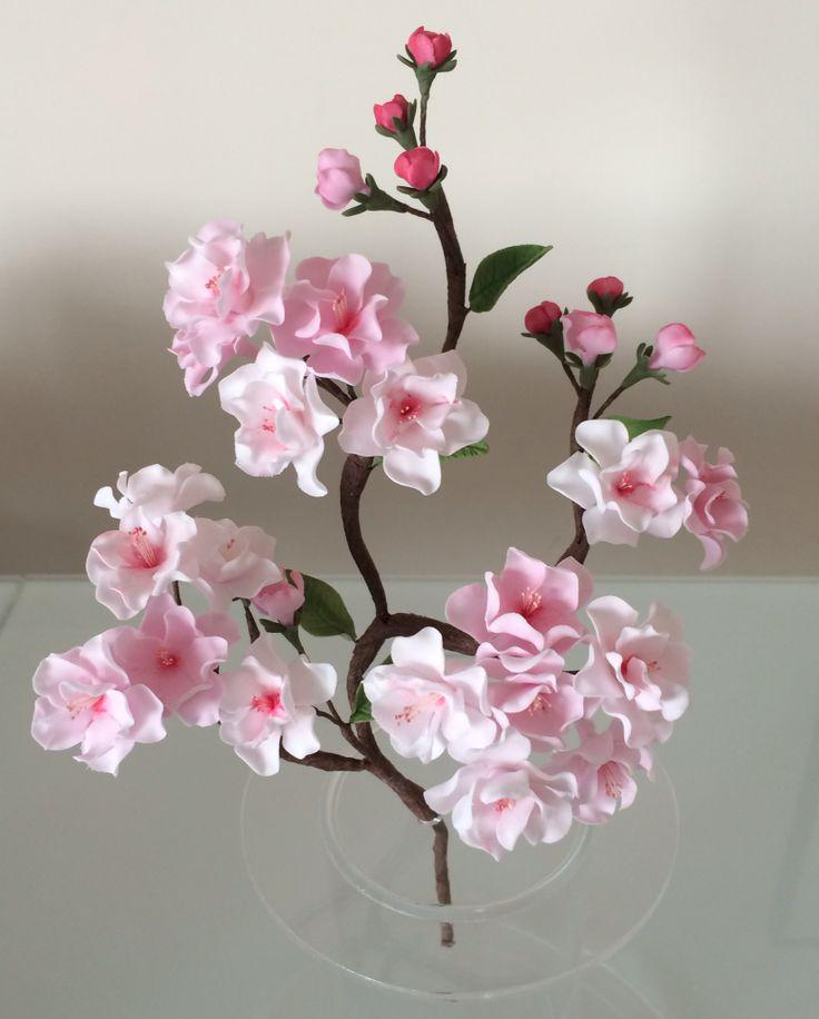 gum paste cherry blossom