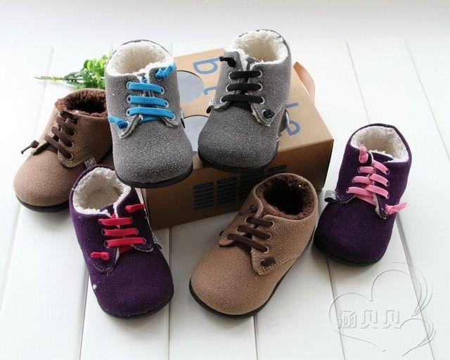 Haut De Marque De Mode D'hiver En Cuir Véritable Garçons Bottes Coton rembourré antidérapante Enfants Chaussures 2-4 YSO FILLE CHAUSSURES LIVRAISON GRATUITE