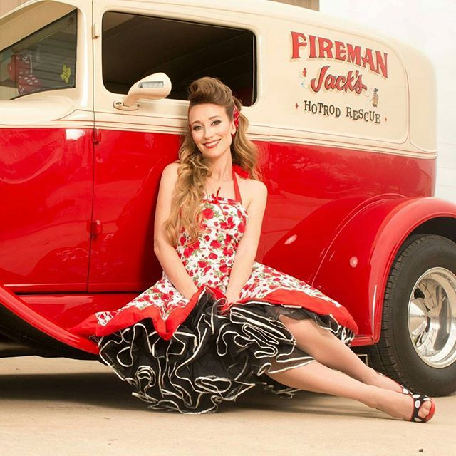 #photographer John Smith  #makeup @aliciagu3 #photoshoot #rockabilly #rockabillygirl #photographyy #houstonmodel #garotapinup #pinupgirl #pinupbabe #purepinup #vintagehair #dreamy  #pinupworship #muahh #vintagestyle #rockabella #firetruck #oldcars #red #garagegirls #beautiful #lovely #fashion #Adorable #cute #sweet #follow #hotrod #polkadots