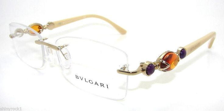 Authentic BVLGARI Gold Rimless Eyeglass RX Frame BV 2127B - 278 *NEW*  54mm #Bvlgari