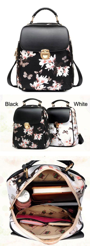 Fresh Girl Butterfly Flower School Bag Casual Backpack for big sale! #school #backpack #Bag #butterfly #flower #fresh
