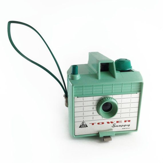 Tower Snappy Mint Green Vintage 620 Box Camera by ModernFiction, $125.00
