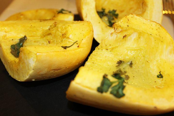 Lemon-Lime Cilantro Spaghetti Squash {gluten free, dairy free} recipe via www.agutsygirl.com