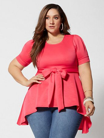 c9c9b7540 Shop Noelle High-Low Scuba Top. Find your perfect size online at the best  price at Fashion To Figure.