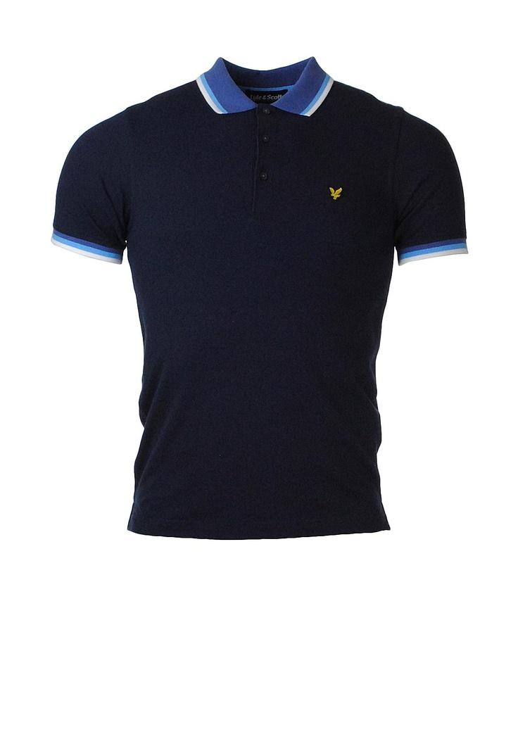 Lyle & Scott Contrast Polo Shirt, Navy | McElhinneys Online Department Store