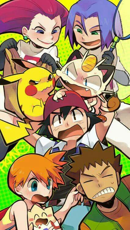 160e56b7c Can't send the full picture T_T I like how pikachu is looking at meowth .