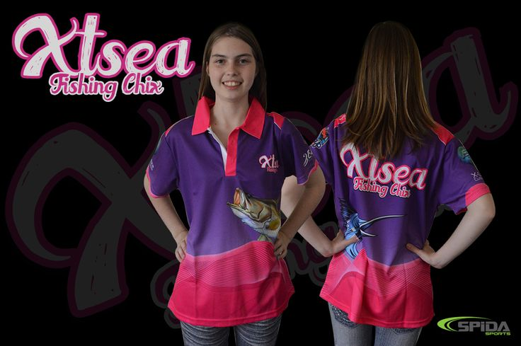 Ladies, no need to look drab and boring at your fishing tournaments anymore! Grab your customised sublimated fishing polo shirts through us  http://www.spidasports.com.au/sublimated-fishing-shirts/