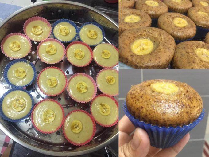 Resepi Apam Pisang Kukus Mekar Gebu Guna Blender Sahaja Food Desserts Recipes