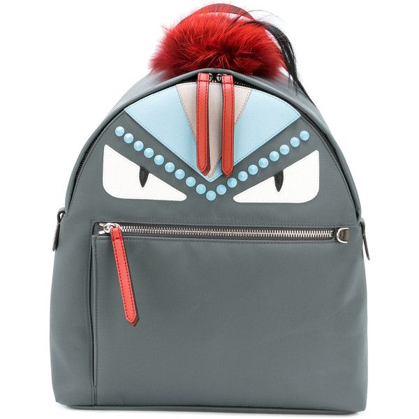 Fendi Bag Bugs backpack ($2,450) ❤ liked on Polyvore featuring bags, backpacks, decorating bags, real leather backpack, leather knapsack, day pack backpack and genuine leather backpack
