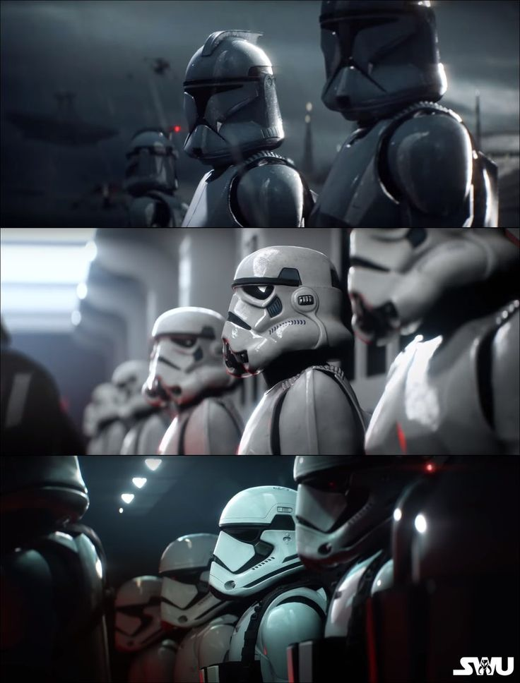 Clones and stormtroopers- EA Star Wars Battlefront II Trailer