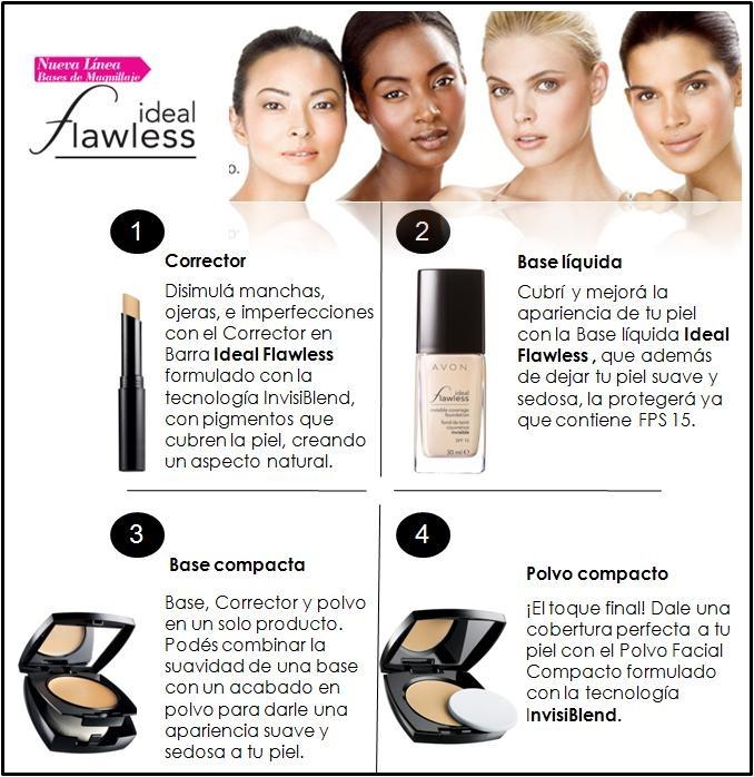 Maquillate en 4 pasos con la nueva línea de maquillaje Ideal Flawless