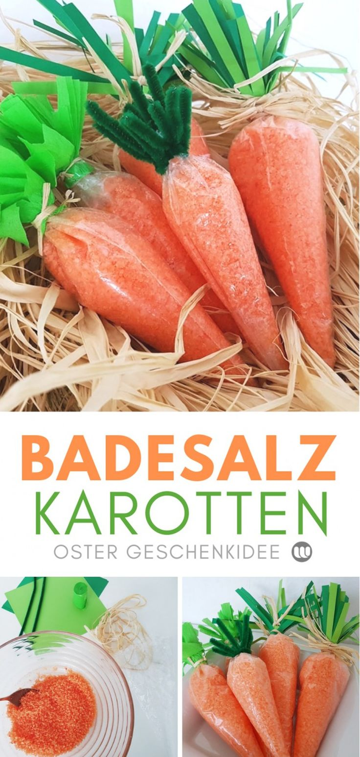 DIY Oster-Geschenkidee: Ostereier Badebomben & Badesalz Karotten
