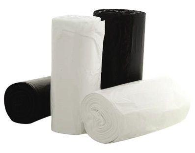 White Bin Liner 18 Litre bin liner white 50 per roll