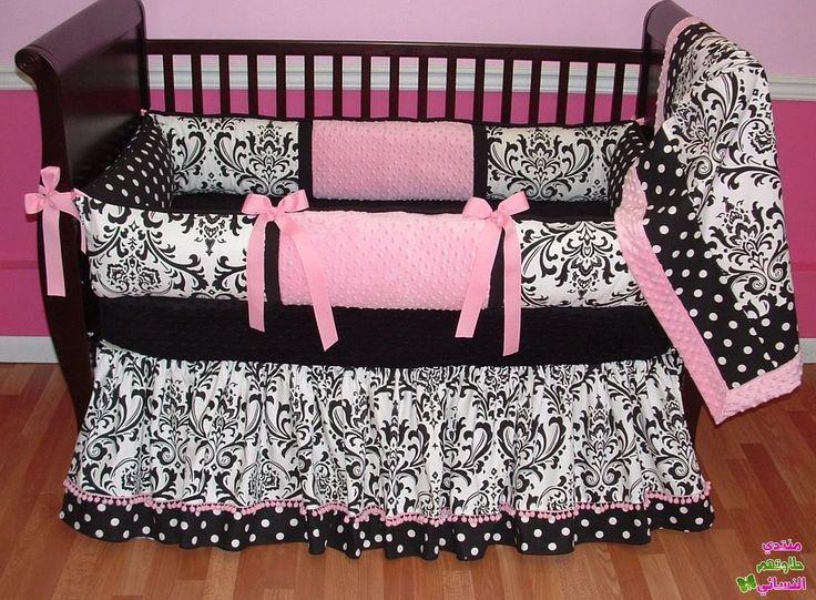 مفارش سرير أطفال مواليد 2016 مفارش سرير بيبي Baby Pink Bedding Crib Bedding Girl Custom Nursery Bedding
