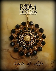 Circle of Life in Swarovski crystals of Jet Black.  This one is a crowd pleaser! AUD $180 COL Jet.jpg Please visit us on Facebook  https://www.facebook.com/romdesignsjewellery or our website https://www.romdesigns.com