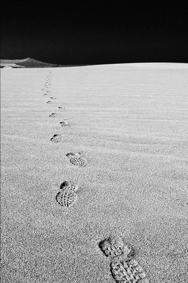 Footsteps in the Peruvian desert