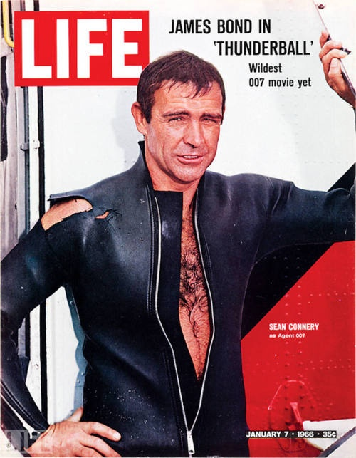 January 7, 1966: Sean Connery graces the cover of LIFE Magazine.    Care to take a trip down memory lane with us? Have a look back at Sean Connery's Adventures as Bond.    What's your favorite James Bond movie?