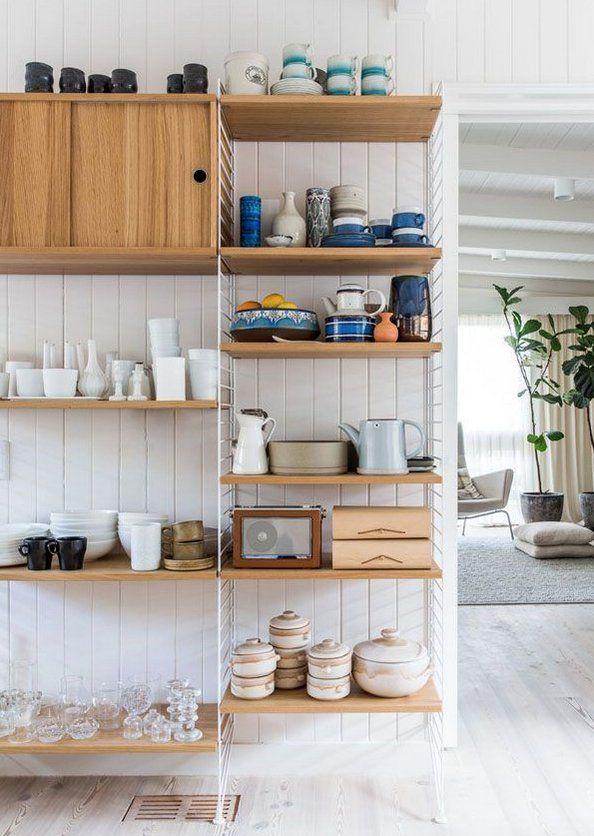北欧キッチン雑貨収納 オープン食器棚のおしゃれな収納方法   北欧 ... 北欧雑貨収納方法