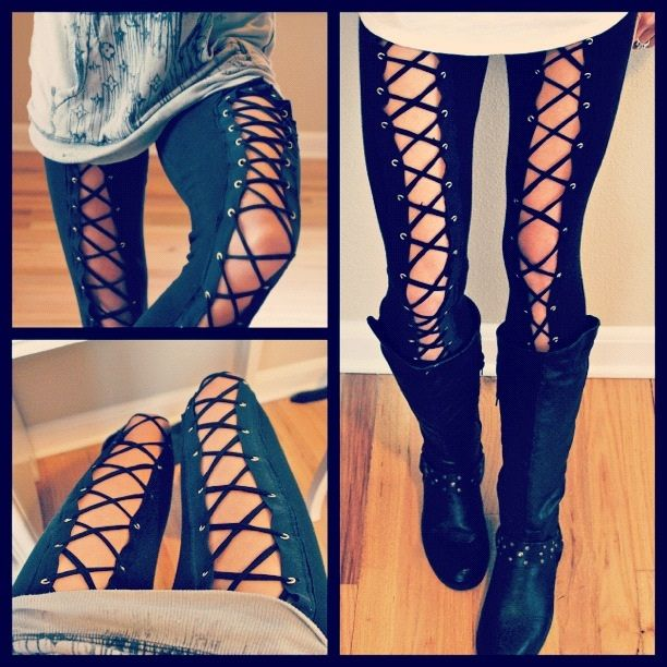 Laced Tights, so cool <3                                                                                                                                                                                 More